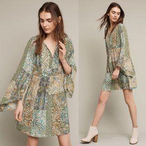 Anthropologie Floreat Amelie Silk Kimono Dress